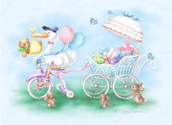 Картинки для открытки новорожденному 464