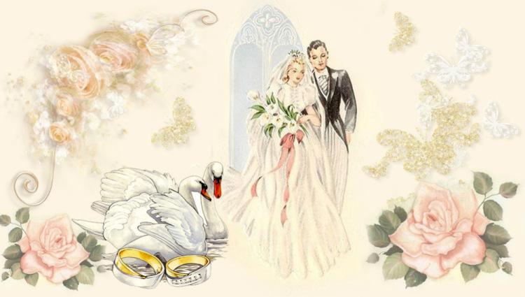 Рисунки для свадебного декупажа