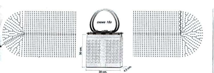Как связать дно сумки крючком 103