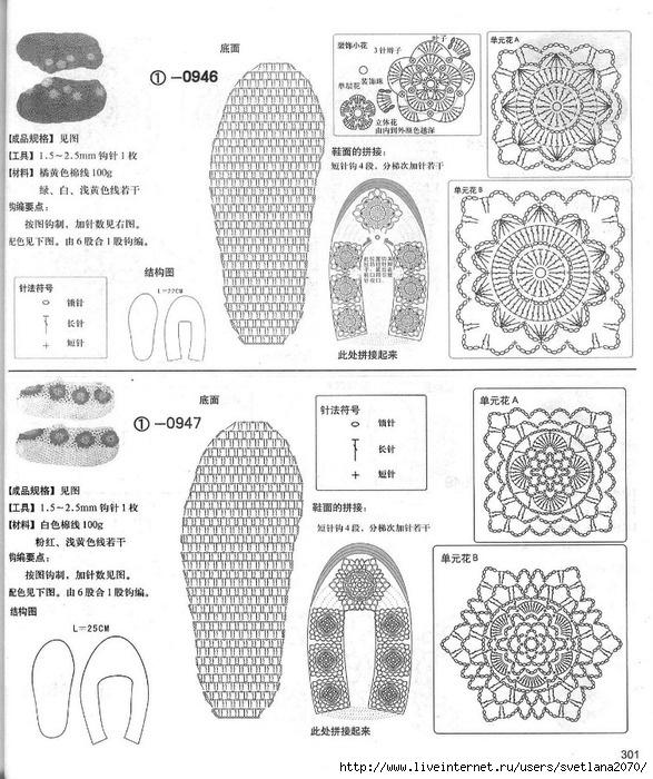 Вязание крючком обуви домашней по схемам