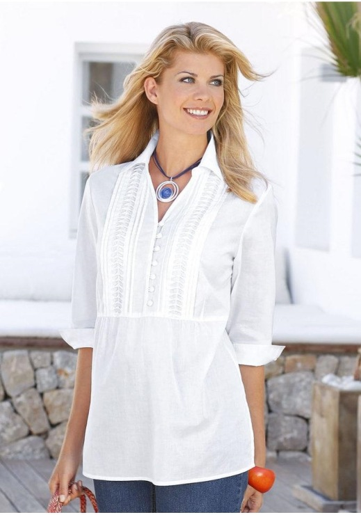 Белая Блузка Фото Для Полных
