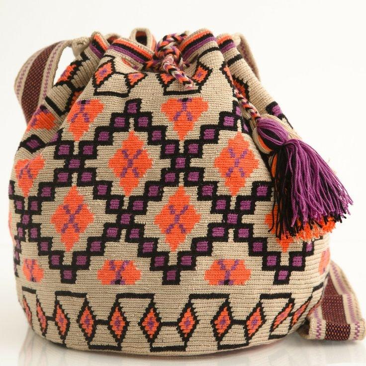 Вязание мексиканских сумок 43