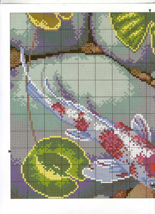 Схема вышивки карпов 77