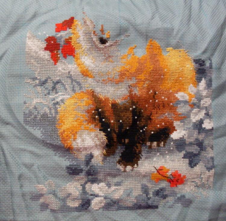 Лисичка вышивка риолис 38