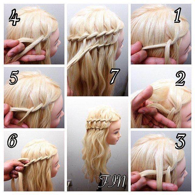 Как сделать косичку на распущенных волосах