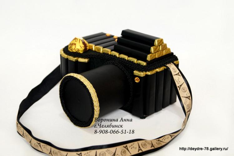 Фотоаппарат из конфет пошаговое 32