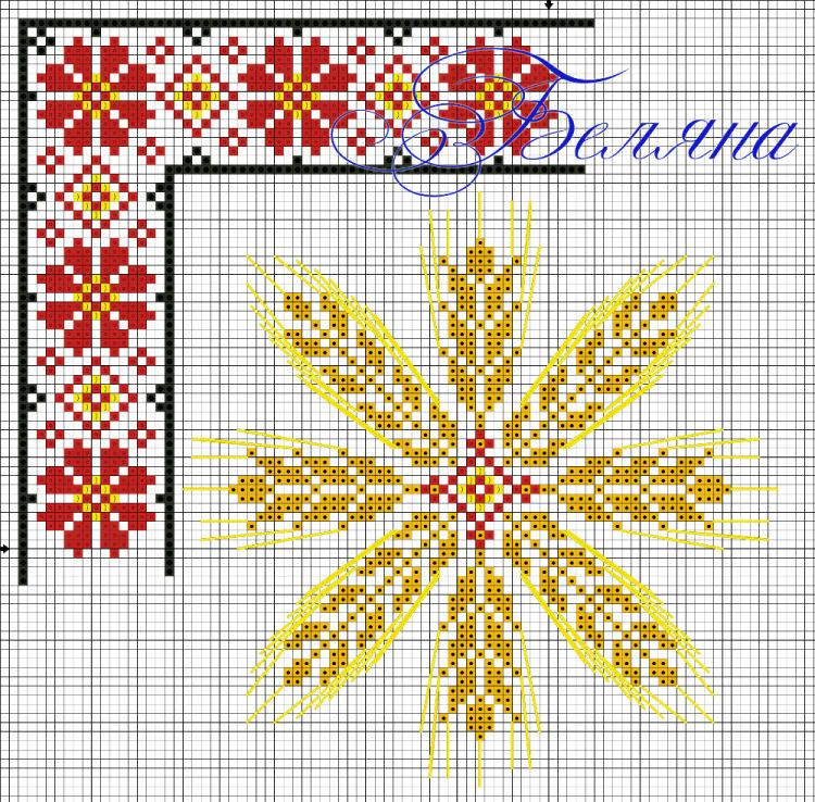 Схемы для вышивки колосок