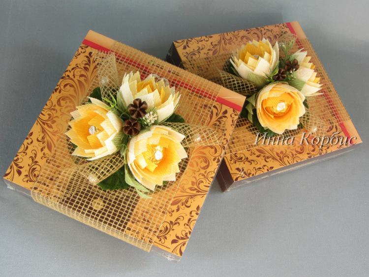 Декор коробки конфет своими руками