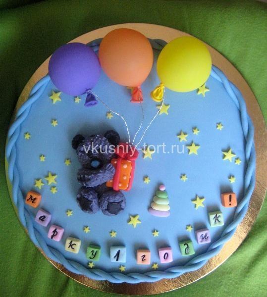 Как украсить торт для мальчика мастикой