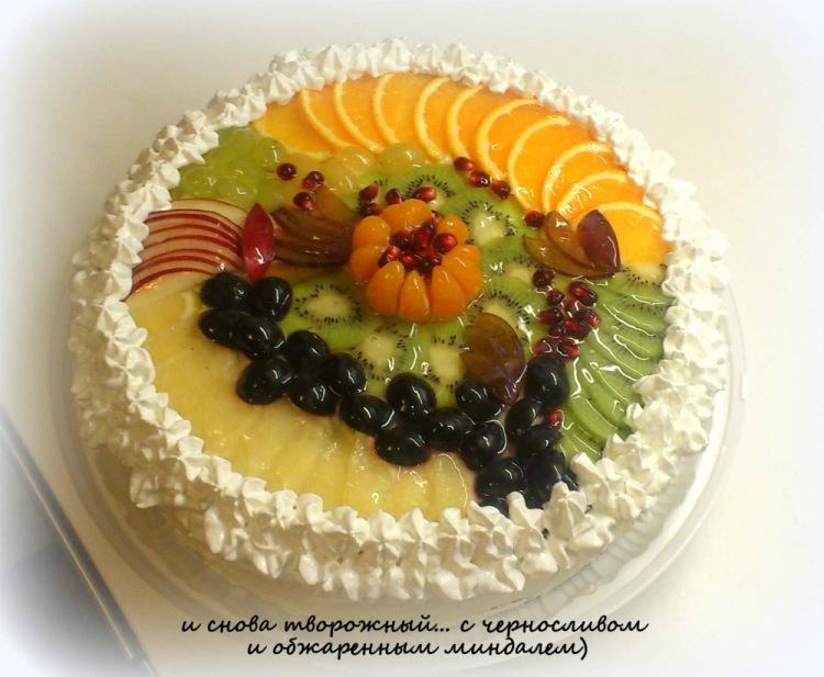 Украшение желейно-фруктового торта фото