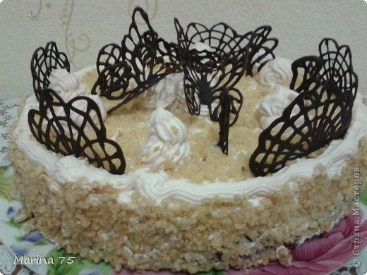 Шоколадные цветы для торта своими руками