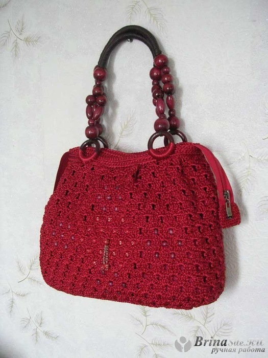 Как сделать вязаную сумочку