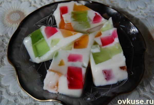 Десерт битое стекло со сметаной рецепт с пошагово