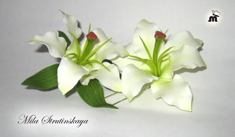 Как сделать белую лилию 962