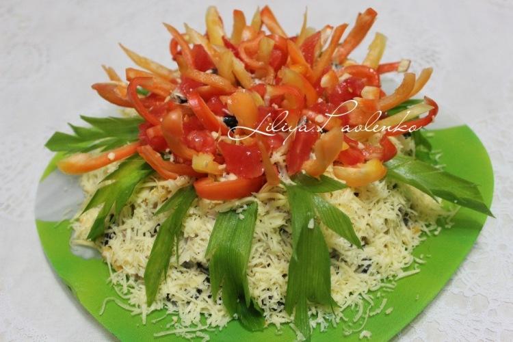 салат георгин с фото
