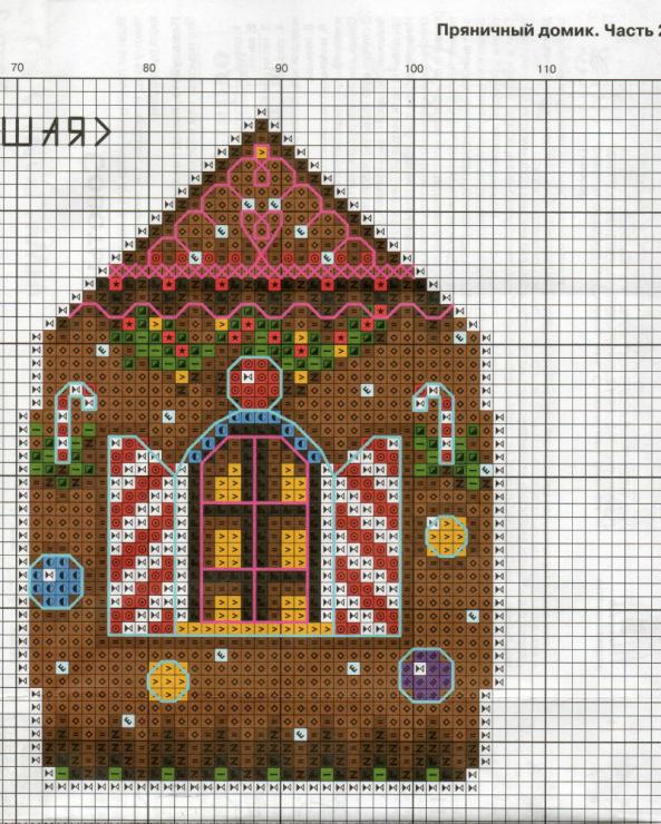 Вышивка пряничный домик схема 20