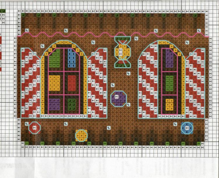 Вышивка пряничный домик схема 55