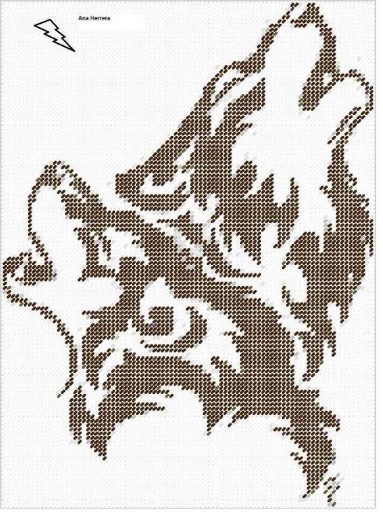 Схема для вышивки белые волки 66