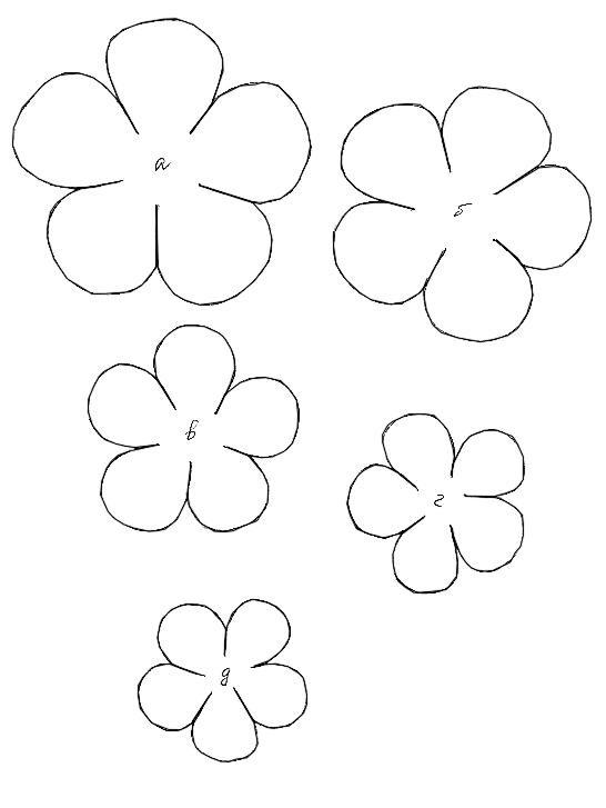 Как сделать шаблон цветка
