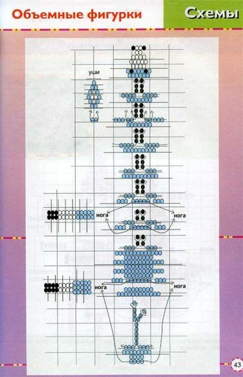 Как сделать из бисера объёмные схемы