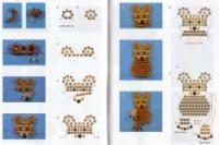 Схема для плетения бисером мишка