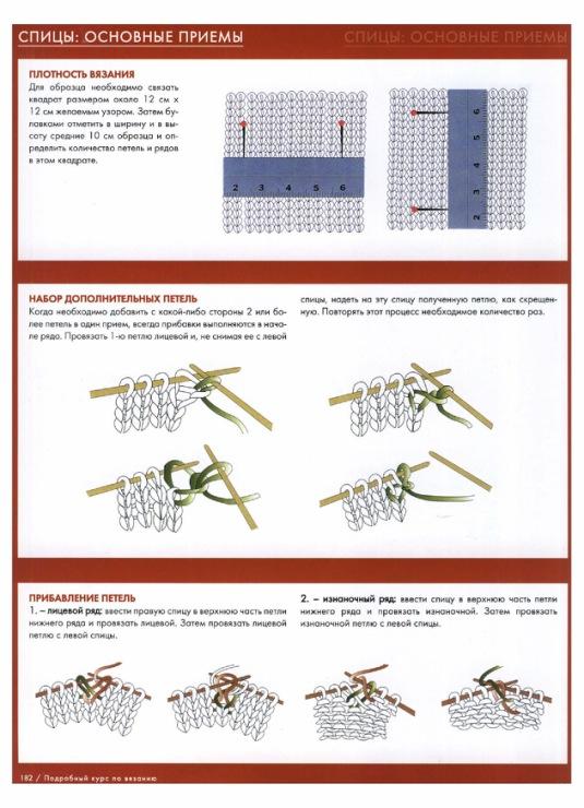 Вязание на спицах основные приемы 4
