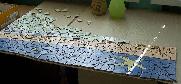 Из чего сделать мозаику в домашних условиях
