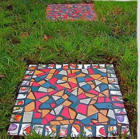 Поделки из плитки для сада