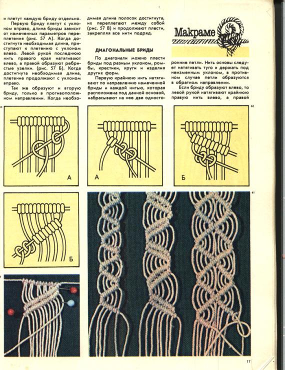 Плетение брид в макраме