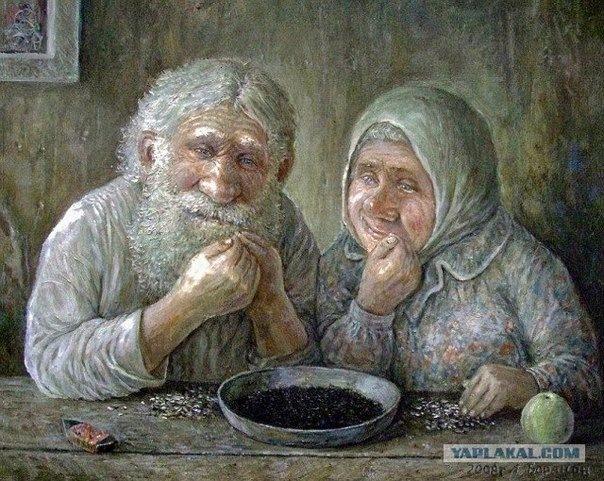 дед с бабкой на сене фото