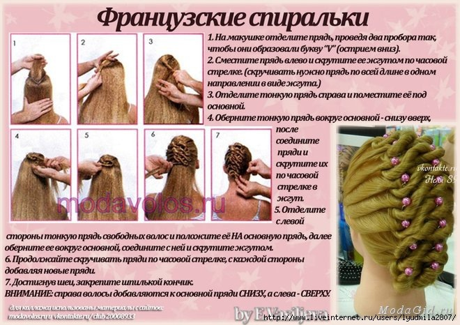 Прически инструкции на средние волосы