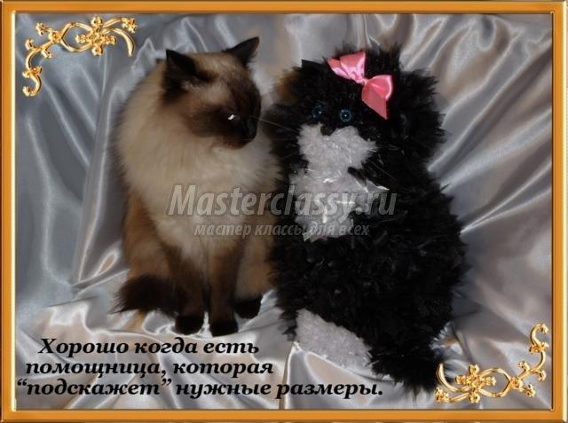 Кошки из конфет своими руками