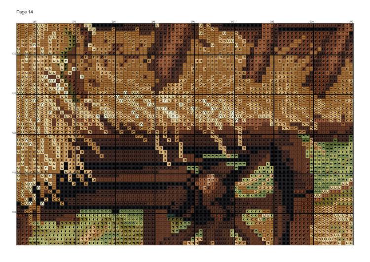 Схемы вышивки по известным картинам 555
