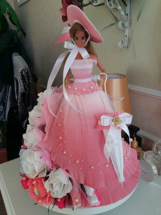 Букет из конфет мастер класс кукла 165