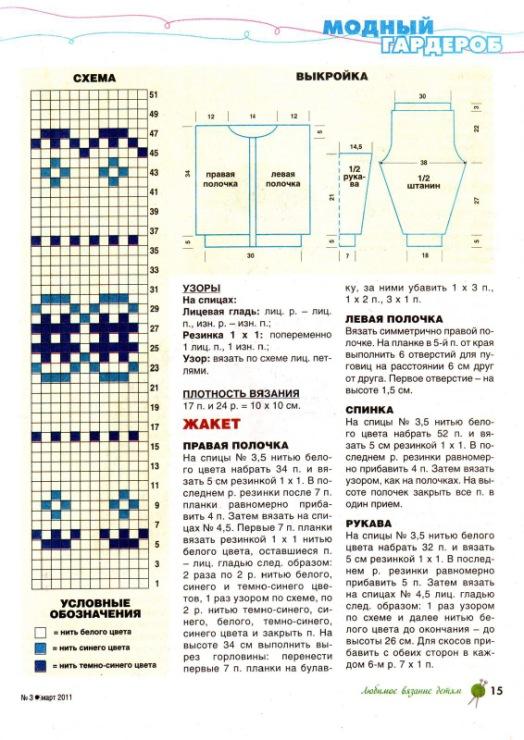 Схема вязания детских рейтуз спицами 33