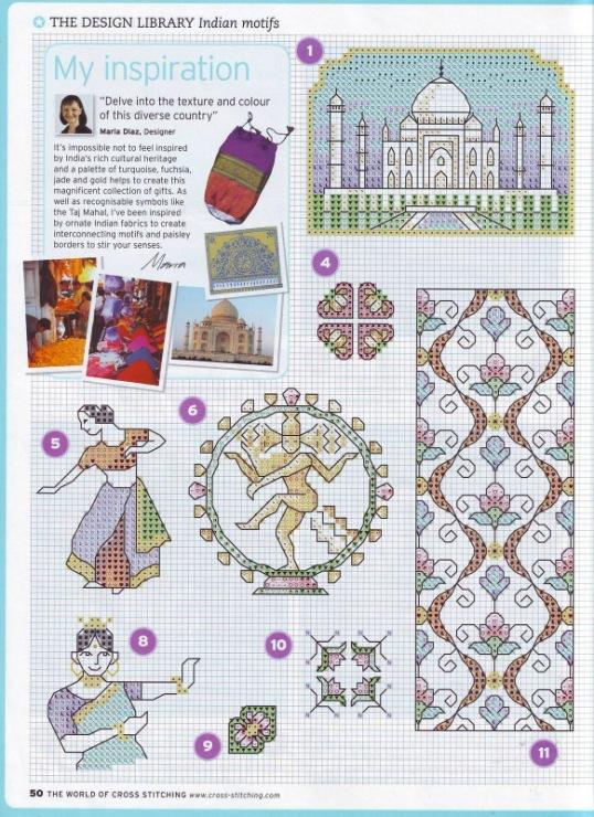 Схема вышивки крестиком индианка 42