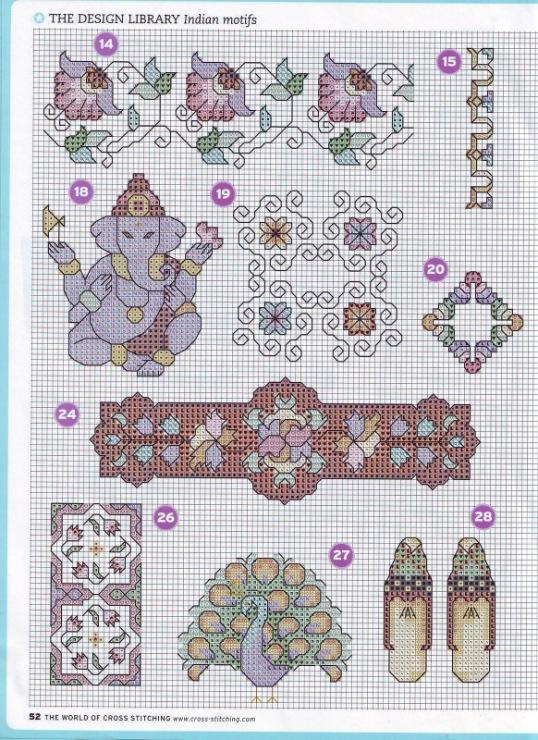 Схемы для вышивки индия 1147