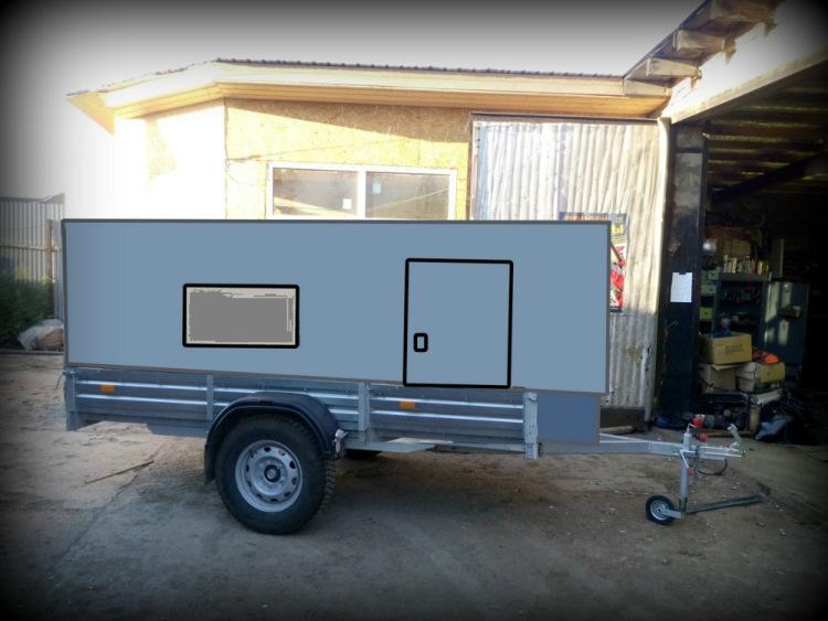 Жилой модуль на прицеп для легкового автомобиля 151